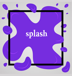 big blue splash with lots of small splashes vector image