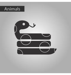 Black and white style icon reptile snake vector