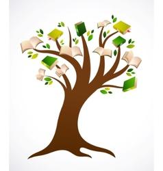 Book tree ilustration vector