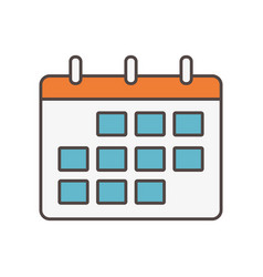 calendar reminder social media icon vector image