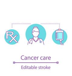 cancer care concept icon vector image