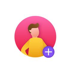 Cartoon image people avatar profile flat vector