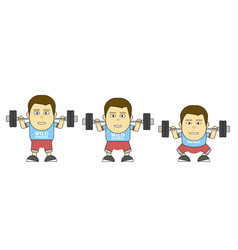 character in training build your bady 2d flat vector image