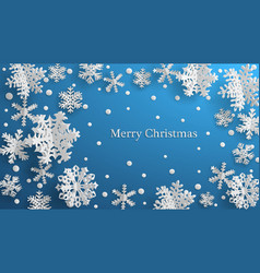 christmas background with three-dimensional paper vector image