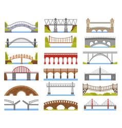 City bridge urban crossover bridge construction vector