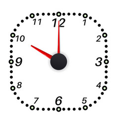 Clock face ten oclock vector