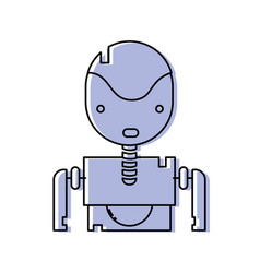 Color tecnology robot face with chest design vector