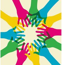colorful teamwork vector image