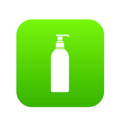 cosmetic bottle icon digital green vector image