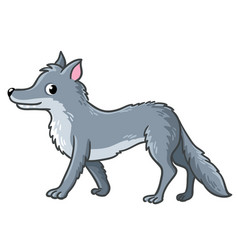 Cute wolf on a white background vector