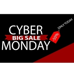 Cyber monday sales web elements vector image