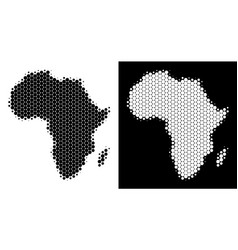 dotted halftone africa map vector image