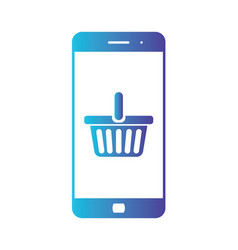 e-commerce flat design concept cart icon using vector image