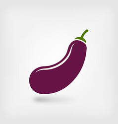 Eggplant vegetable symbol vector