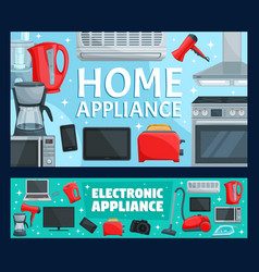 electronics household items home appliance vector image