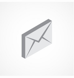 email isometric icon 3d vector image