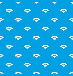 fan pattern seamless blue vector image