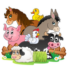 Farm animals topic image 2 vector