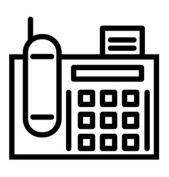 Fax line icon telephone vector