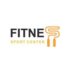 Fitness club logo sign bodybuilding club vector