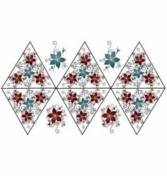 flower pattern design vector image vector image