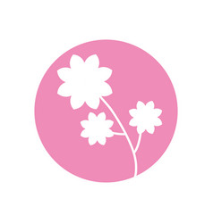 flower spring natural icon vector image vector image