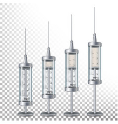 Glass medical syringe isolated empty vector