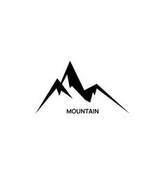 icon mountain vector image