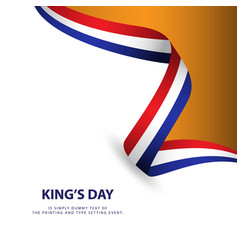 kings day template design vector image