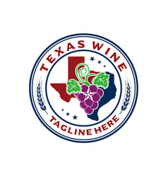 Logo emblem texas wine vector