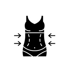 lose weight black icon sign on isolated vector image