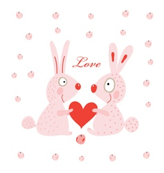 Lovers hares vector