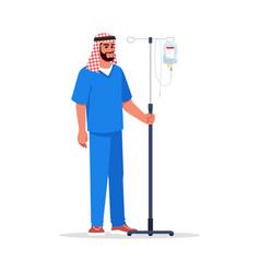Male nurse semi flat rgb color vector