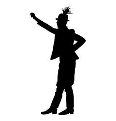 Man csardas dancer silhouette folklore hungary vector
