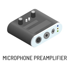 Microphone preamplifier electronic device signal vector