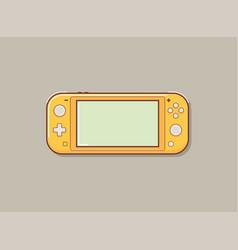 Mobile video console video game console portable vector