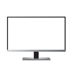 monitor led vector image