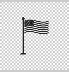 national flag of usa on flagpole american flag vector image