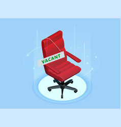 open vacant job position isometric employment vector image