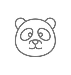 panda chinese traditional animal line icon vector image