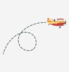 plane with path movement airplane route vector image