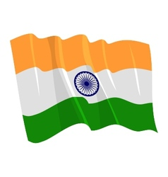 Political waving flag of india vector