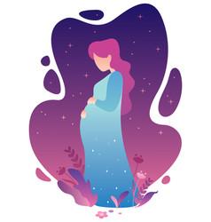pregnant woman concept vector image