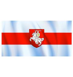 protest belarus flag vector image