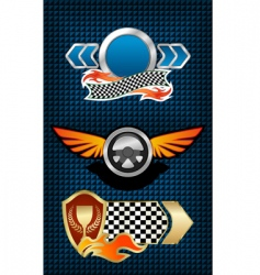 racing symbols and icons vector image
