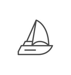 Sailboat or sailing ship line icon vector