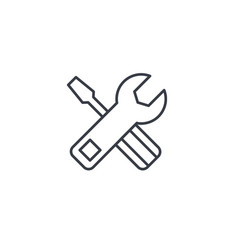 Screwdriver wrench tool setup settings thin vector