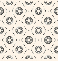 seamless pattern with gemstones vector image