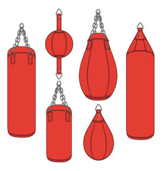Set of color with a red boxing pears vector