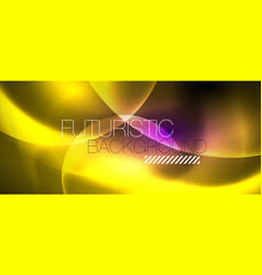 shiny neon color light with circles abstract vector image